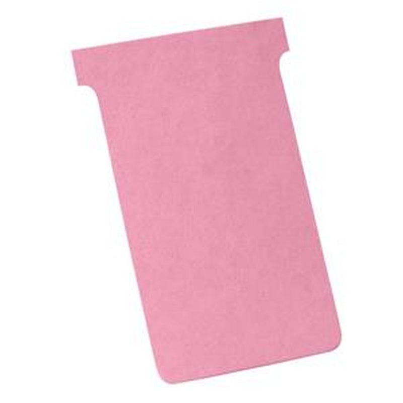 Nobo A110 T-Card Size 4 (Light Pink) Pack of 100 T-Cards