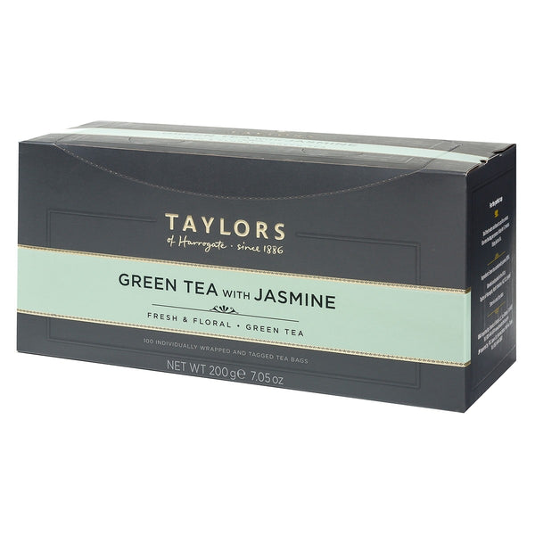 Taylors of Harrogate Green Tea with Jasmin Enveloped Tea Pack 100's