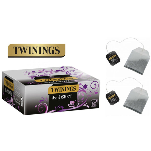 Twinings Earl Grey String & Tagged 100's (Full Pack 5's)