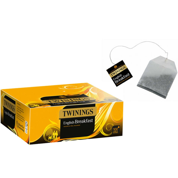 Twinings English Breakfast String & Tagged 100's (Full Pack 6's)