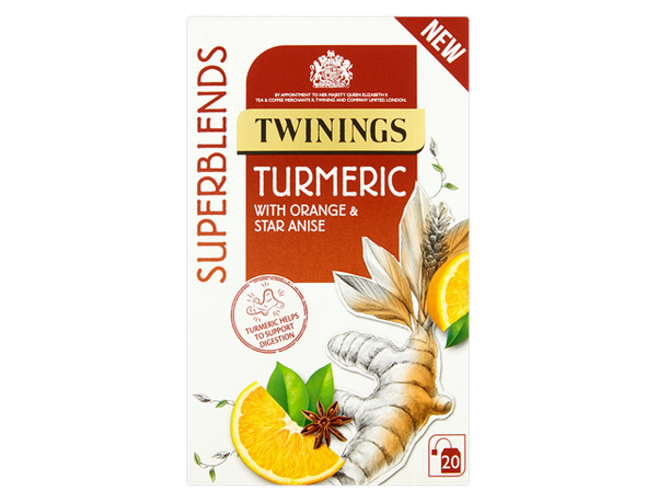 Twinings Super Blends Turmeric Envelopes 20's