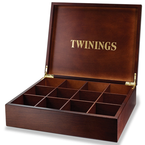 Twinings 12 Compartment Wooden Display Box (Empty)