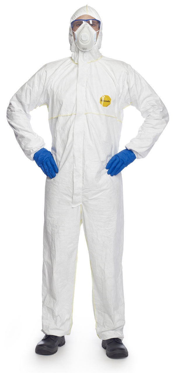 Tyvek DuPont 200 Disposable Coverall WHITE Certified Cat.III, Type 5, 6  {All Sizes}