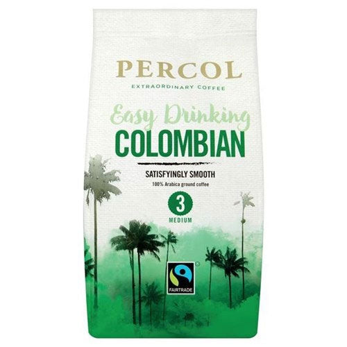 Percol Fairtrade Smooth Colombia Ground Coffee 200g (Full Pack 8's)