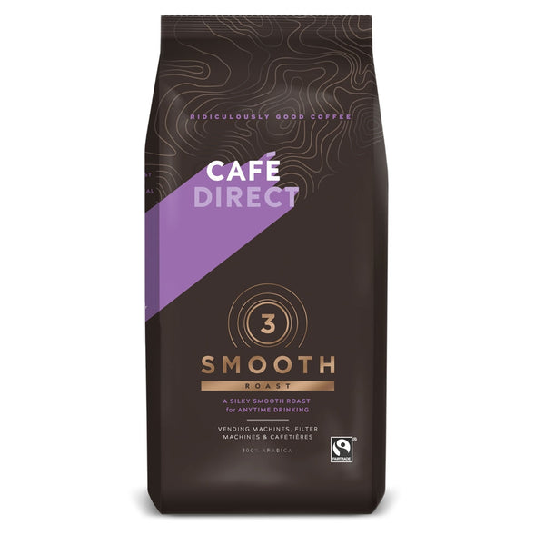 Cafe Direct Fairtrade Smooth Roast Ground Coffee 227g (Full Pack 6's)