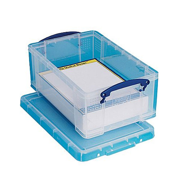 Really Useful Clear Plastic Storage Box 9 Litre