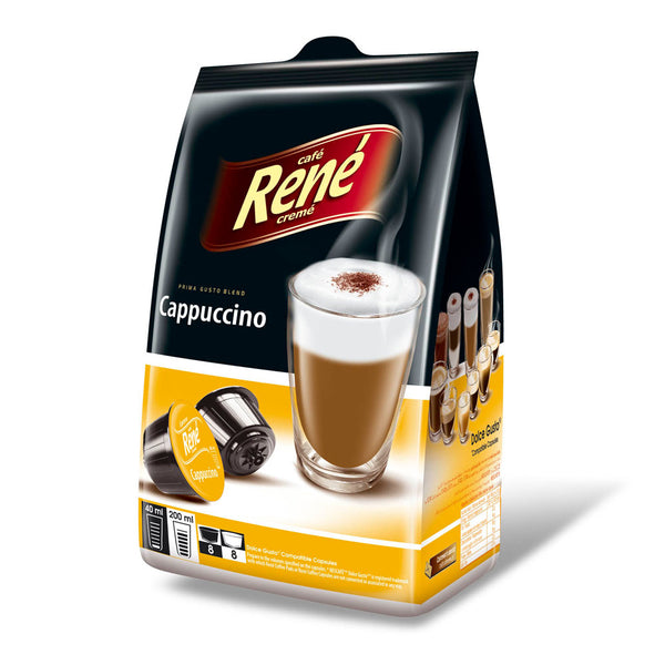 Café Rene Cappuccino 16's (Dolce Gusto Compatible Pods)