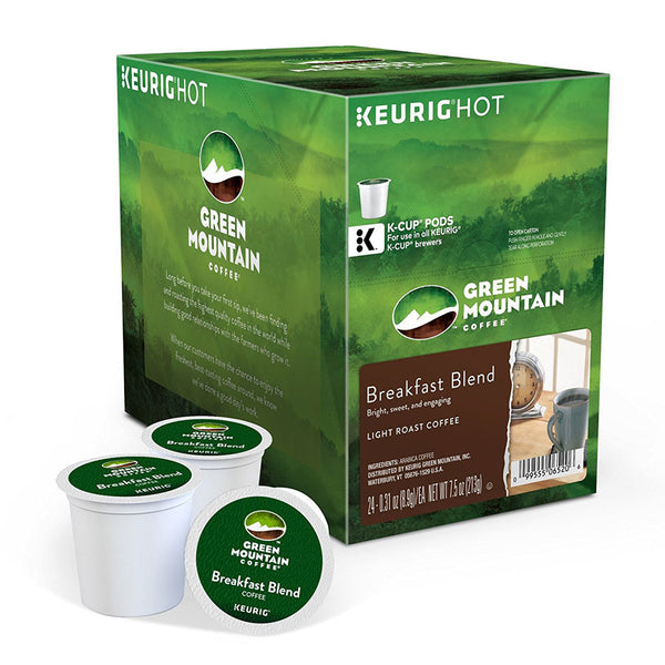 Keurig Green Mountain Coffee Breakfast Blend K-Cup Pods 24's (Out of Code)