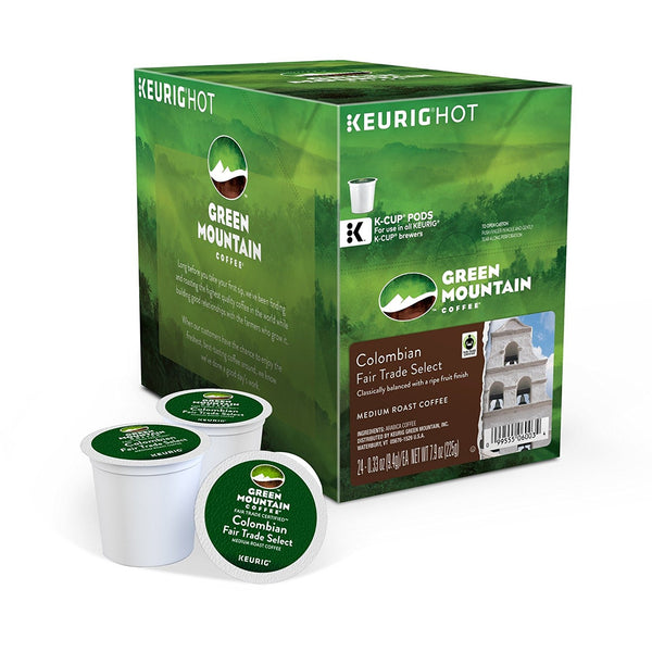 Keurig Green Mountain Coffee Colombian Fairtrade K-Cup Pods 24's