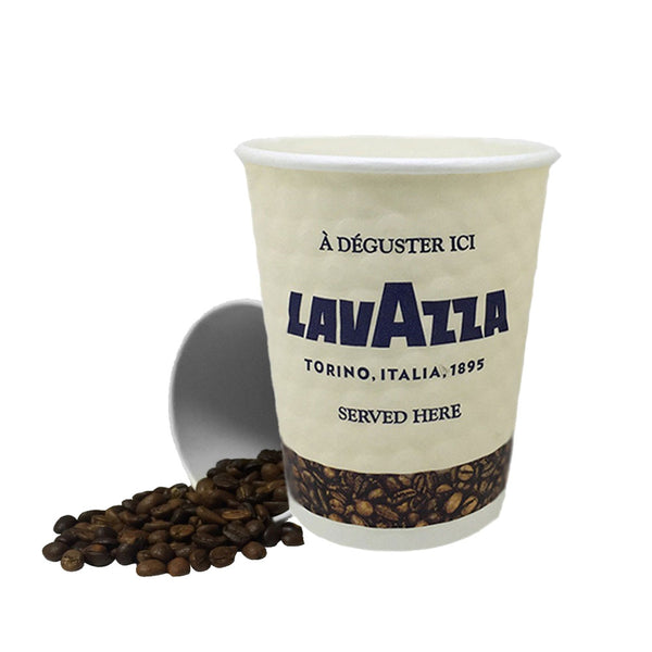 8oz Lavazza Double Walled Embossed Paper Cups 500's