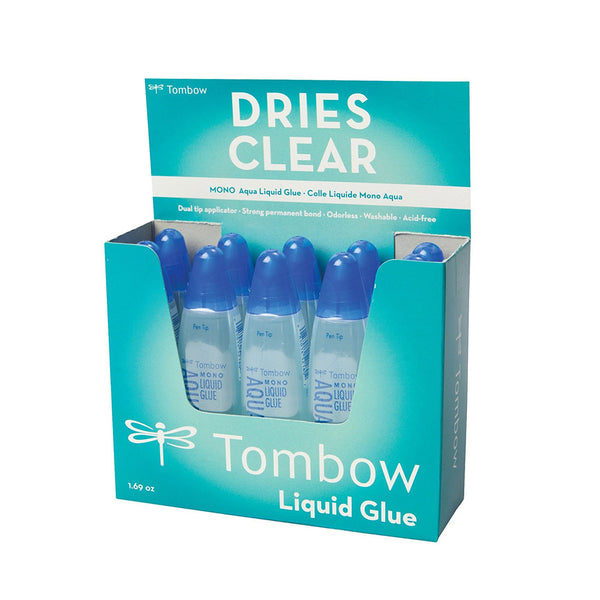 Tombow Aqua Liquid Glue Dual Tip Pack 10's