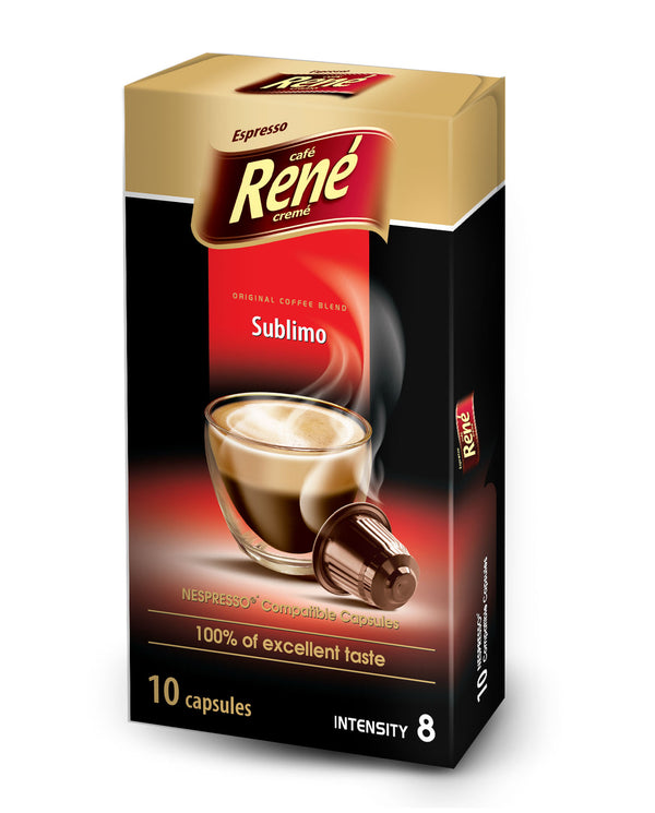 Cafe Rene Sublimo 10's (Nespresso Compatible Pods)