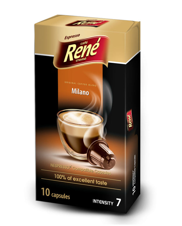 Cafe Rene Milano 10's (Nespresso Compatible Pods)