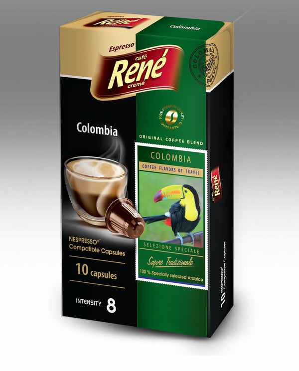Cafe Rene Colombia 10's (Nespresso Compatible Pods)