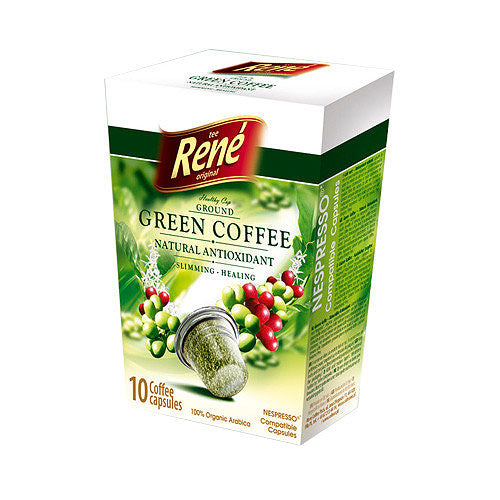 Cafe Rene Green Coffee 10's (Nespresso Compatible Pods)
