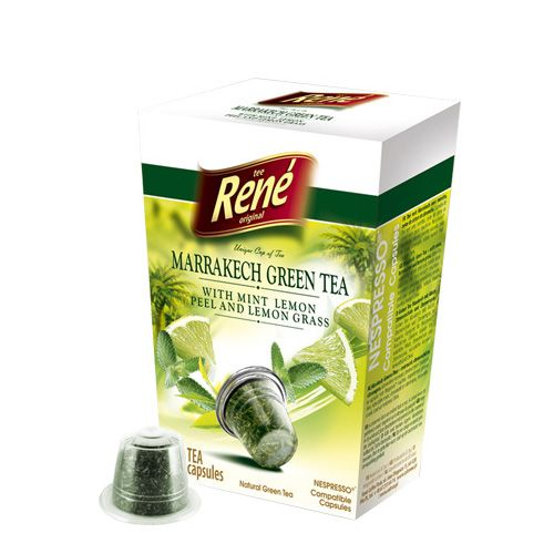 Cafe Rene Marrakech Green Tea 10's (Nespresso Compatible Pods)