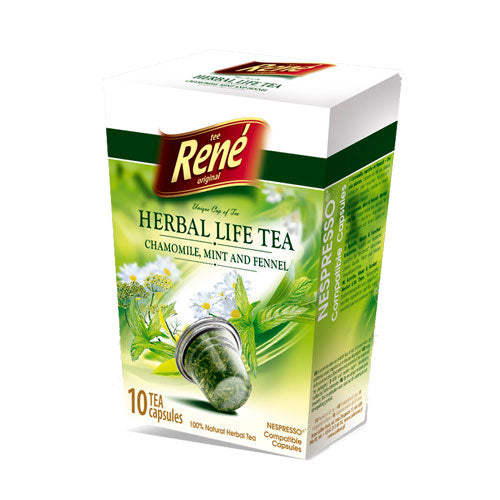 Cafe Rene Chamomile Mint and Fennel Tea 10's (Nespresso Compatible Pods)
