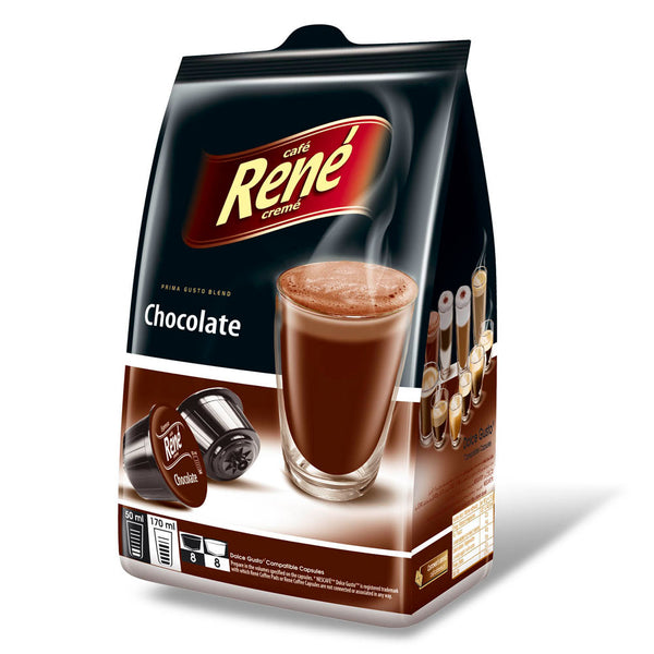 Cafe Rene Chocolate 16's (Dolce Gusto Compatible Pods)