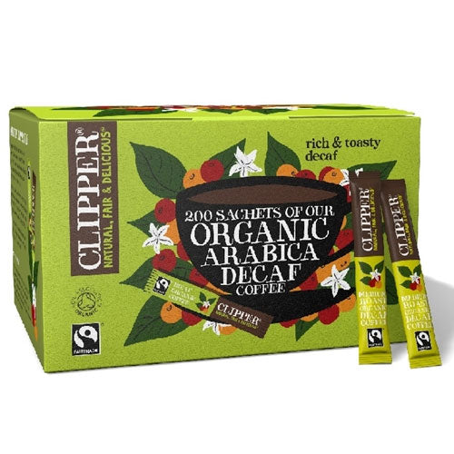 Clipper Organic & Fairtrade Instant Coffee 200 Sticks Decaf