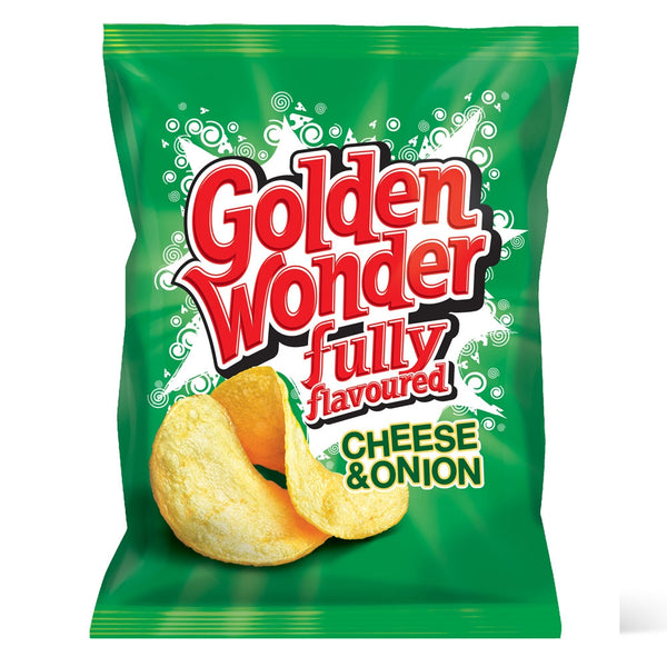 Golden Wonder Crisps Cheese & Onion Pack 32's