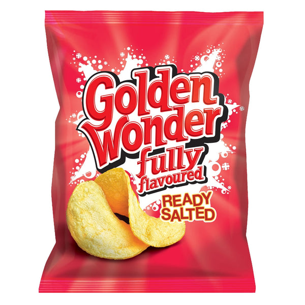 Golden Wonder Crisps Ready Salted Pack 32's