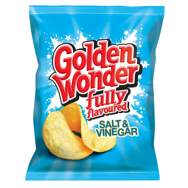 Golden Wonder Crisps Salt and Vinegar Pack 32's