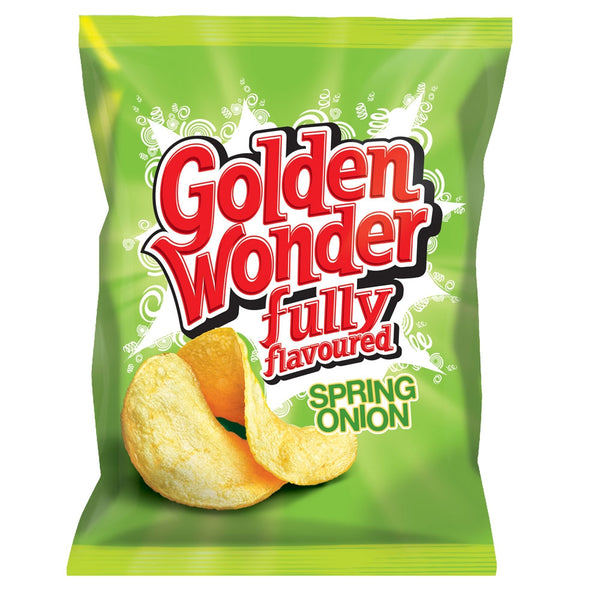 Golden Wonder Crisps Spring Onion Pack 32's