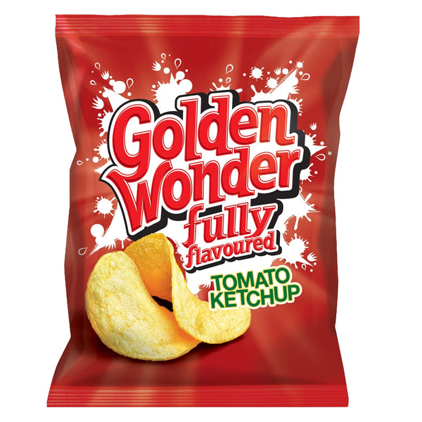 Golden Wonder Crisps Tomato Ketchup Pack 32's