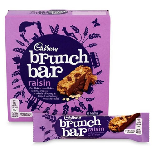 Cadbury Brunch Bar Raisin Pack 6's