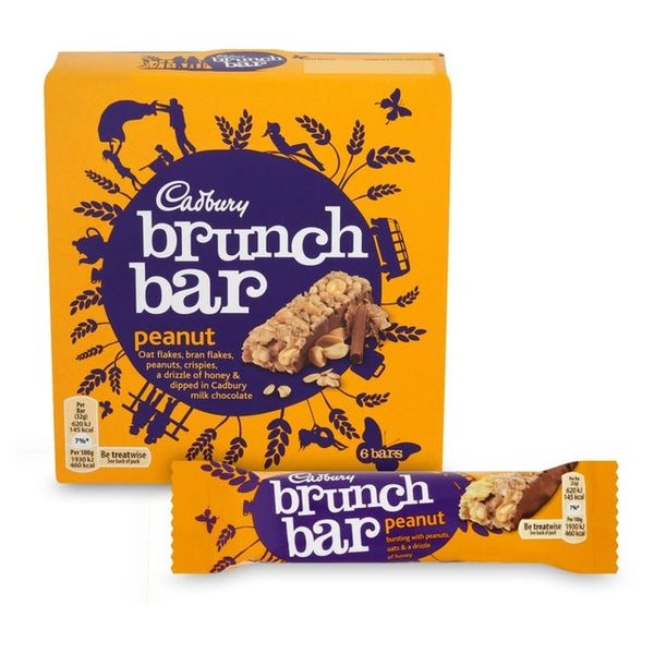 Cadbury Brunch Bar Peanut Pack 6's