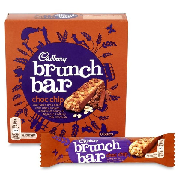 Cadbury Brunch Bar Choc Chip Pack 6's