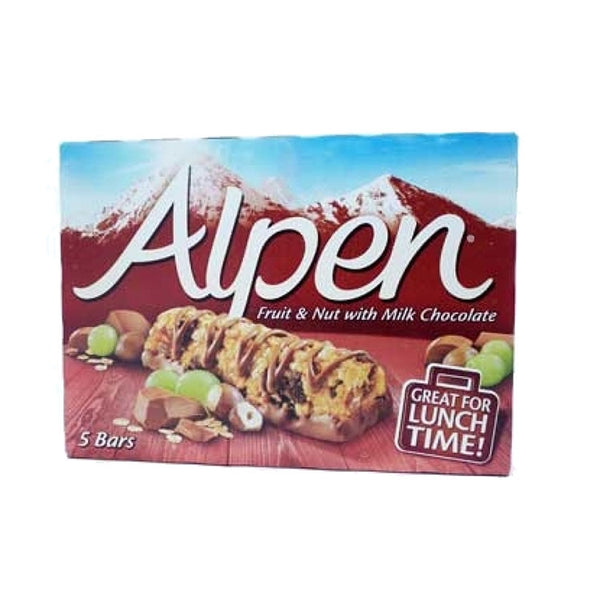 Alpen Fruit And Nut With Chocolate Cereal Bar 5X29g (Full Pack 10's)