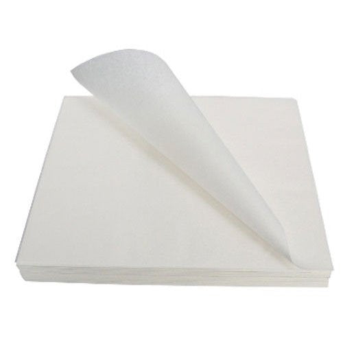"Greaseproof Plain White Paper 9""x14"" Pack 100's"
