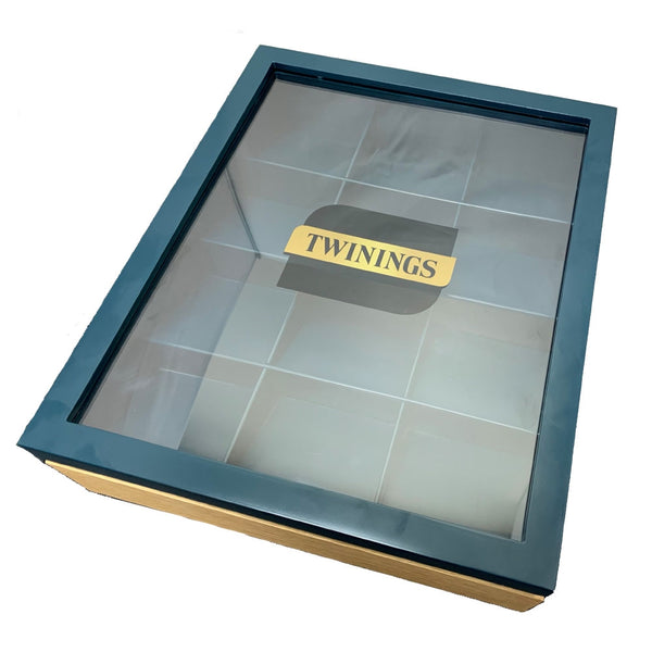 Twinings 12 Compartment Teal Pyramid Display Box (Empty)
