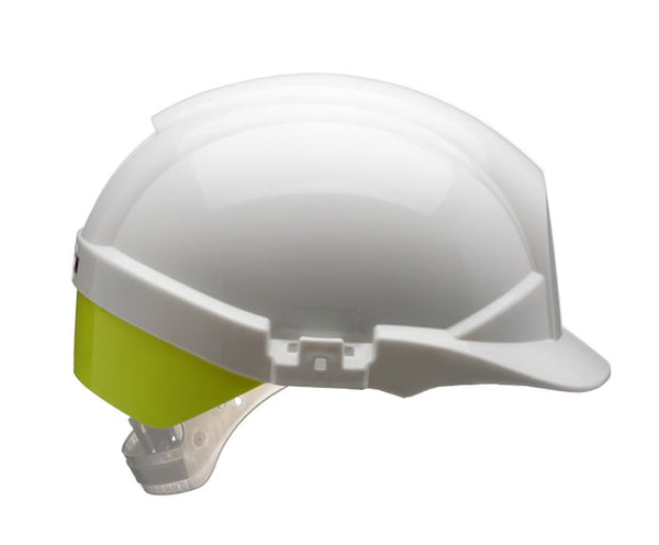 Reflex Safety Helmet White C/W Rear Orange or Yellow Flash