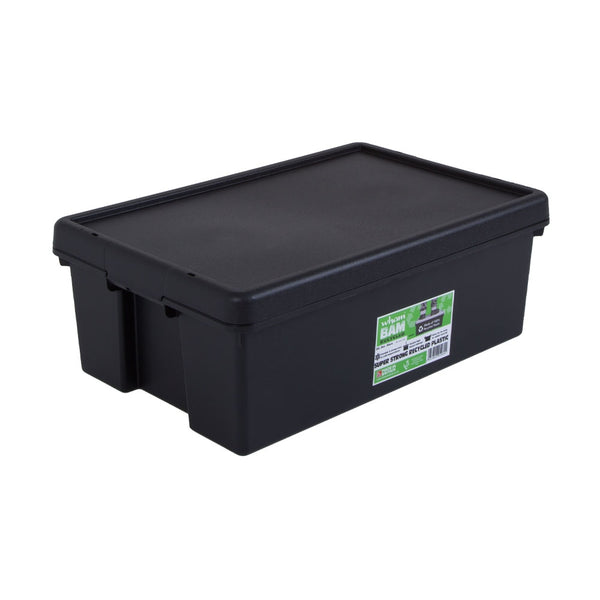 Wham Bam Black Recycled Storage Box 36 Litre