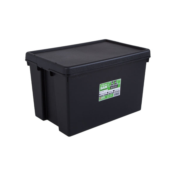 Wham Bam Black Recycled Storage Box 62 Litre