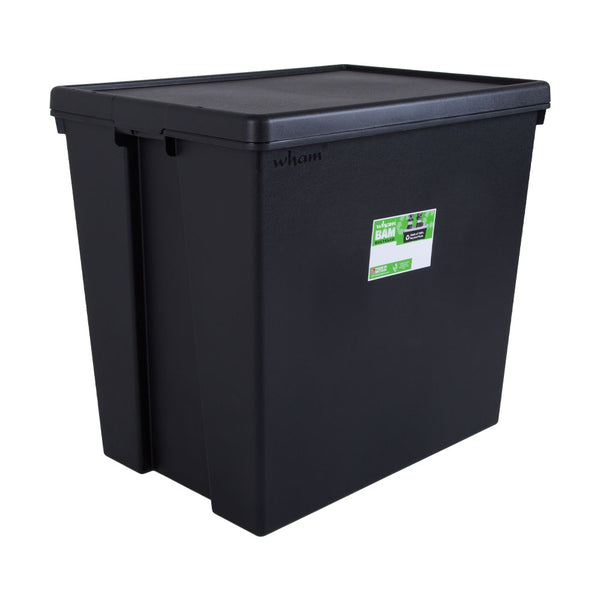 Wham Bam Black Recycled Storage Box 154 Litre