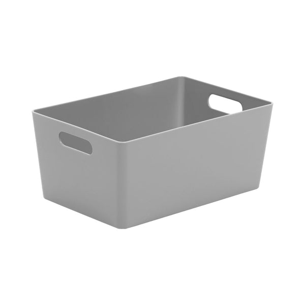 Wham Grey Rectangular Studio Basket 4.02 3.9 Litre