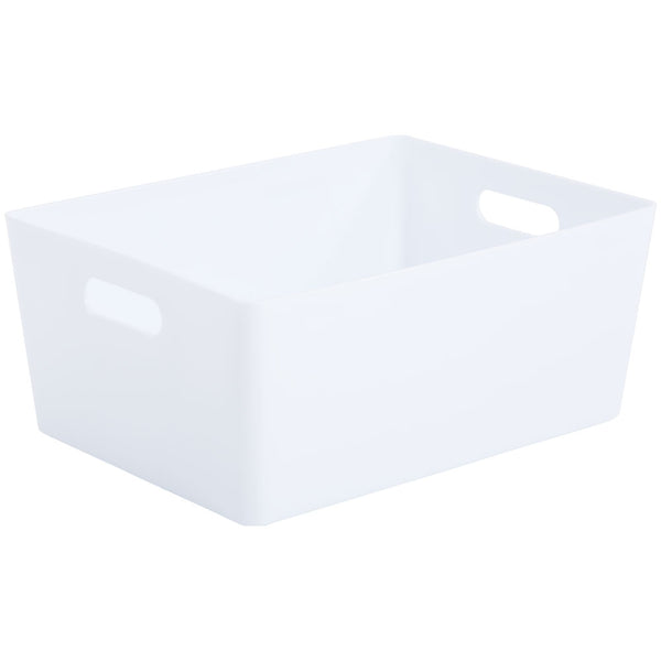 Wham White Rectangular Studio Basket 5.02 11.5 Litre
