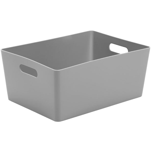 Wham Grey Rectangular Studio Basket 5.02 11.5 Litre