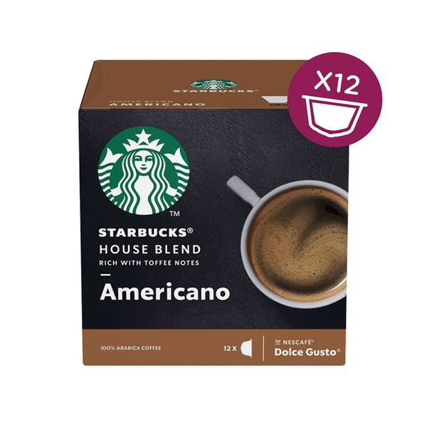 Nescafe Dolce Gusto Starbucks House Americano (Pack of 12) 12397697