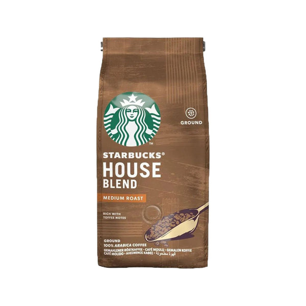 Starbucks Medium House Blend Ground Filter Coffee, 100% Arabica, 200g