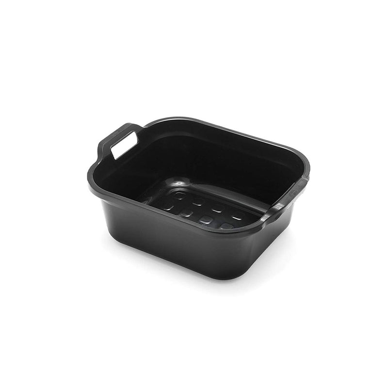 Addis Large Rectangular 10 Litre Washing Up Bowl with Handles, Black, 39 x 32 x 14 cm