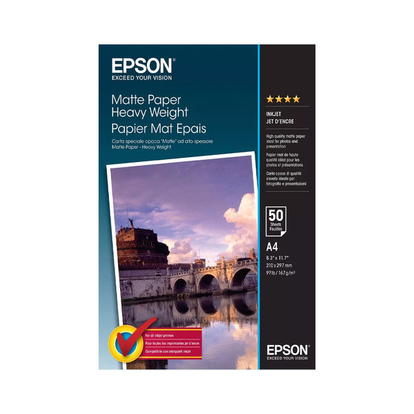 Epson A4 Matte Heavyweight Paper 50 Sheets