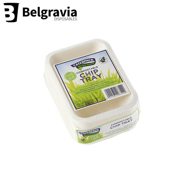 "Belgravia Biodegradable Caterpack 7 x 5"" Chip Trays Pack 50's"