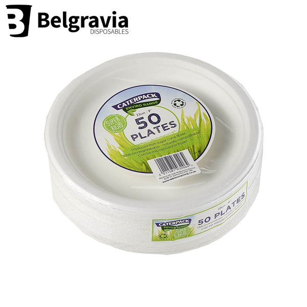 Belgravia Biodegradable  Caterpack 9inch Plates Pack 50's