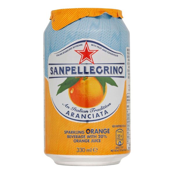 San Pellegrino Aranciata (Orange) Cans 24x330ml