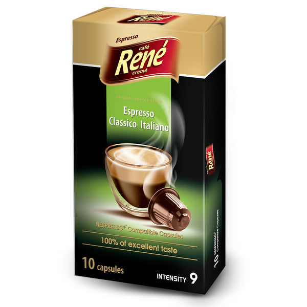 Cafe Rene Italiano 10's (Nespresso Compatible Pods) (Full Pack 4's)