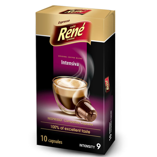 Cafe Rene Intensiva Nespresso Compatible 10 Pods (Full Pack 4's)